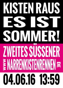 Flyer Narrenkistenrennen 2016